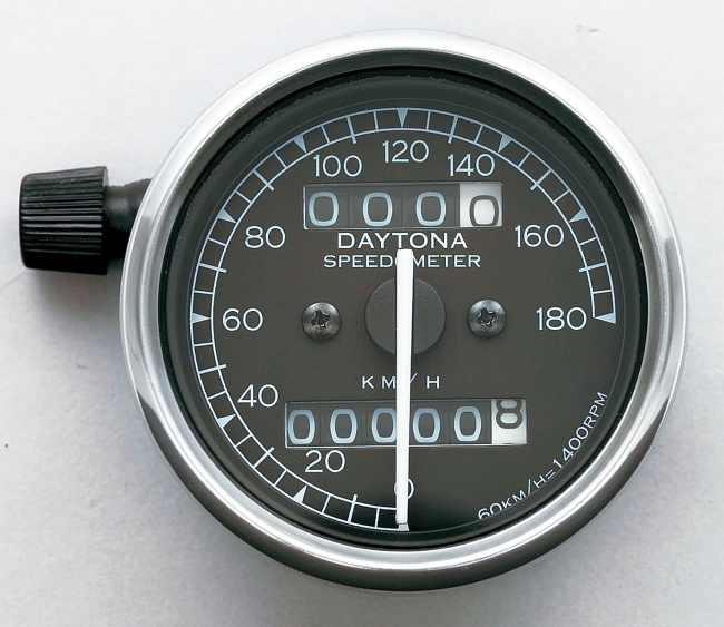 Mechanical Speedometer with White LED Lighting