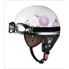 OGK PF-5 mini Pearl White Flower Helmet