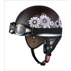 OGK PF-5 mini Flat Brown Flower Helmet