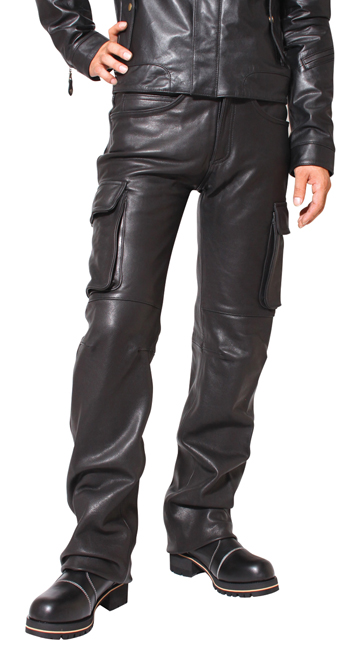 DEGNER : Leather Cargo Pants [DP-17A]
