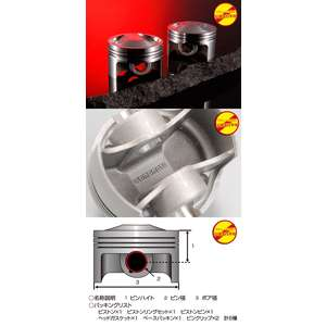 YAMAMOTO Piston Kit A (for 124cc Bore Up Vehicle Racing)