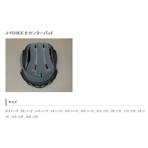 SHOEI J-FORCE II Center Pad [Repair/Optional Parts]
