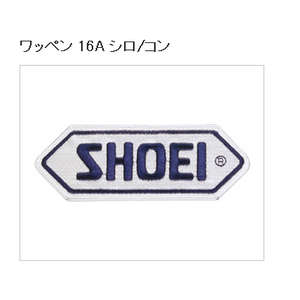 SHOEI Patch 16A White/Navy Blue