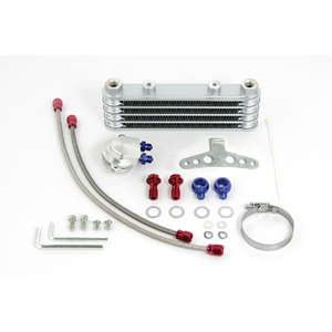 SP TAKEGAWA (Special Parts TAKEGAWA) Super Oil Cooler Kit (Silver/Frame) (for SPL/Dry)