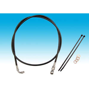 EASYRIDERS [BLACK] Stainless Steel Mesh Front Brake Hose Kit