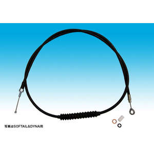 EASYRIDERS Clutch Cable Black/9 Inch Over