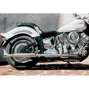 EASYRIDERS FLH Style 2in1 Fishtail Exhaust System