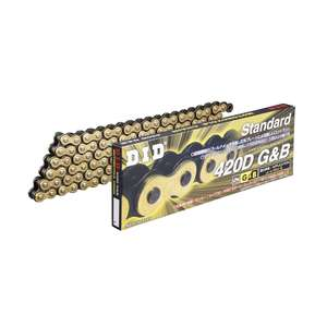 DID STD Series Chain 420D Gold & Black [with Clip (RJ) Joint]