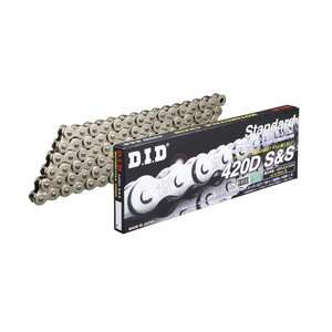 DID STD Series Chain 420D Silver [with Clip (RJ) Joint]
