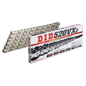 DID VX Series Chain 520VX2 Silver [with Light Press Clip (FJ) Joint]
