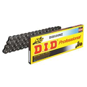 DID Super Non-seal Chain 530NZ Steel [with Light Press Clip (FJ) Joint]