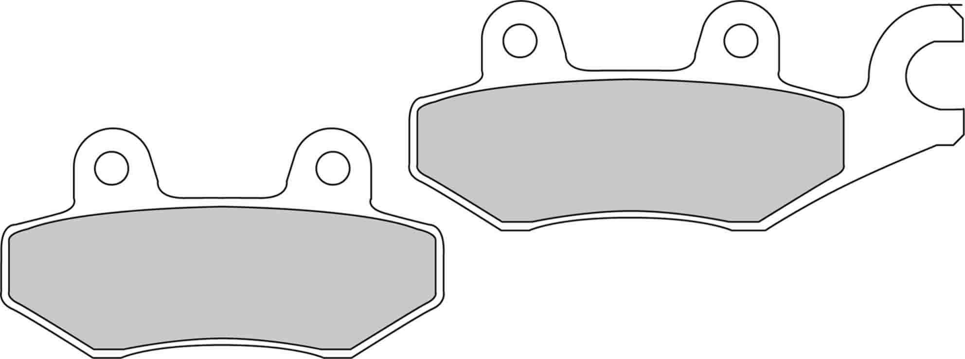 TRIUMPH DAYTONA 900 93-96 REAR EBC BRAKE DISC PADS FA215//2