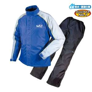 ROUGH&ROAD DUAL TEX Compact Rain Suit Ladies