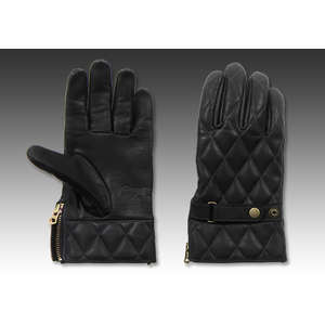 EASYRIDERS Gauntlet Gloves [Diagonal/Black]