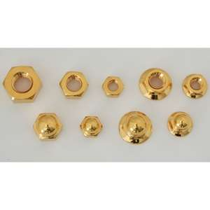 CF POSH 24K Plating Stainless Steel Hexagonal Nut