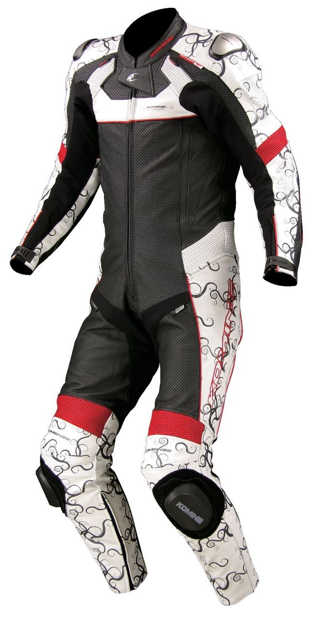 KOMINE S-44 Titanium Leather Suit (with Hump)