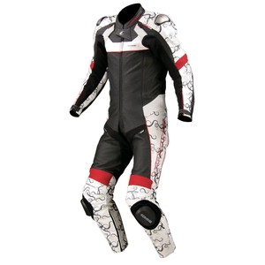 KOMINE S-44 Titanium Leather Suit ( with Hump)
