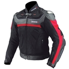 KOMINE JK-061 Leather Mesh Jacket TITANITE Alpha