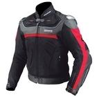 KOMINE JK-061 Leather Mesh Jacket TITANITE Alpha