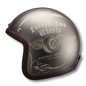 RIDEZ Knuckle Head RJ605 Fly Wheel Jet Helmet