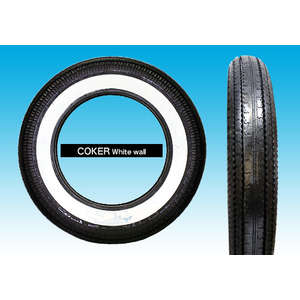 EASYRIDERS COKER Tire (5.00 x 16) [2 WIDE WHITE WALL]