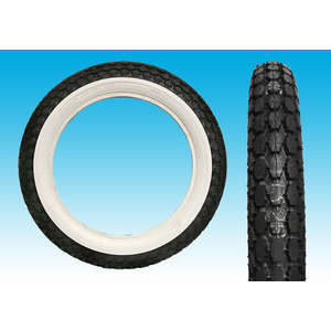 EASYRIDERS COKER BECK Tire (4.00 x 18) [1-3/4 WHITE WALL]
