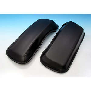 EASYRIDERS Saddlebag Top Leather Cover Set