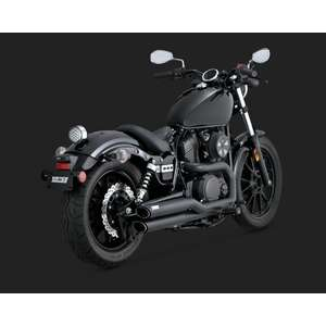 VANCE&HINES Sistema di scarico completo Twin Slash Staggered Black