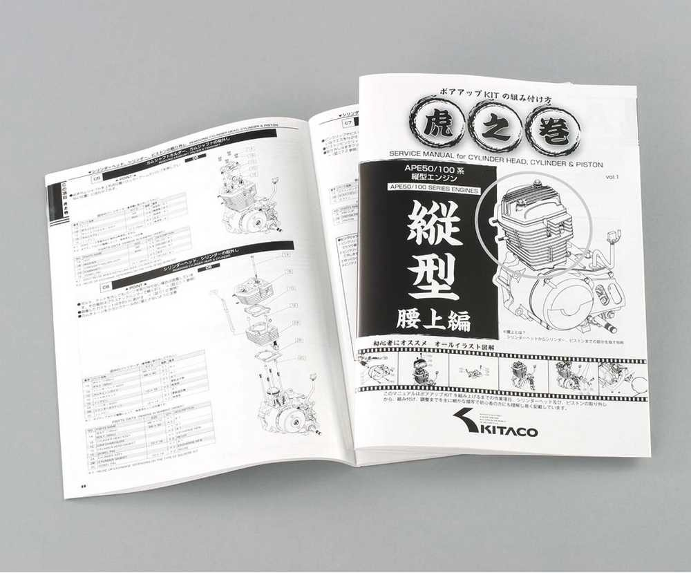 Service Manual for Cylinder Head, Cylinder & Piston for APE Series Vertical Engine