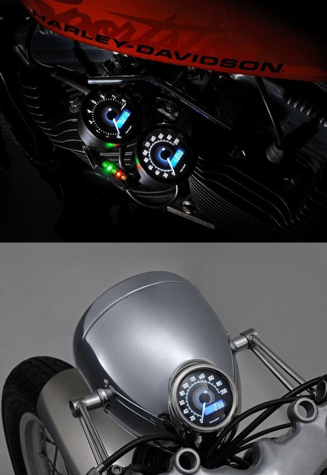 【DAYTONA】VELONA 速度表 200km/h表示 (黑色本體/白色LED) - 「Webike-摩托百貨」