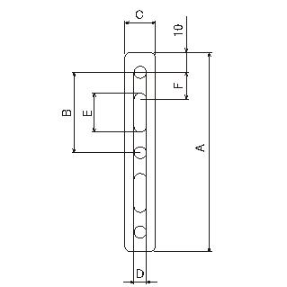 【DAYTONA】通用支架 20X100X1.2 M8 - 「Webike-摩托百貨」