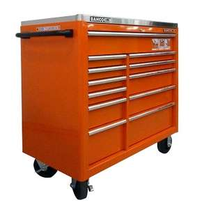 BAHCO Roller Cabinet 12-stages Stainless Steel Top