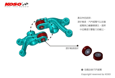 KOSO : KOSO High Camshaft Roller Rocker Arm KIT [IN230