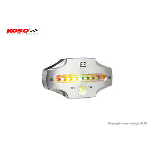 KOSO KOSO LED Voltage Checker [CNC Silver]