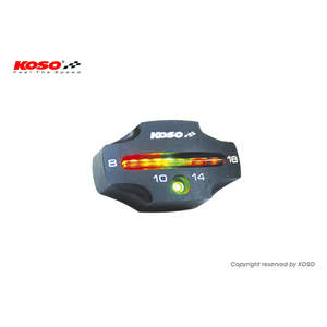 KOSO KOSO LED Voltage Checker [CNC Black]