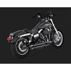 VANCE&HINES Bigshots Staggered Black Full Exhaust System (BIG SHOTS STAGGERED BLACK)