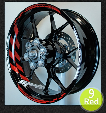 Gp racing wheel stripe rim sticker design 1 spacer
