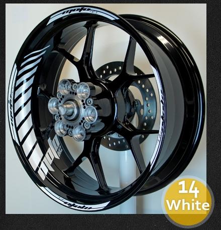 Gp racing wheel stripe rim sticker design 2 spacer
