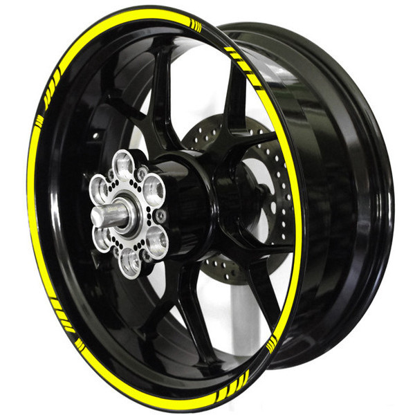 Wheel stripe rim sticker design 4 spacer