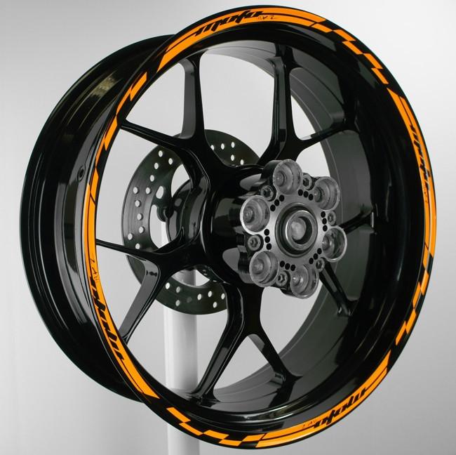 Wheel stripes rim sticker design 5 spacer