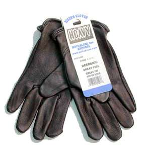 Motobluez [HEAVY] Deer Leather Gloves PLAIN Black
