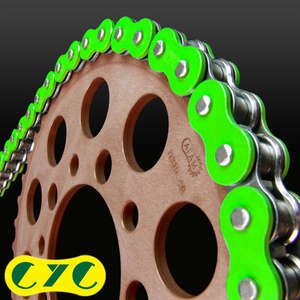 CYC Chain 428-130L Collar Seal Chain [Solid Color] (Fluorescent Green)