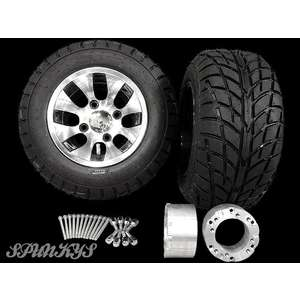10-inches Two-tone Aluminum Wheel Buggy Tire & Spa...
