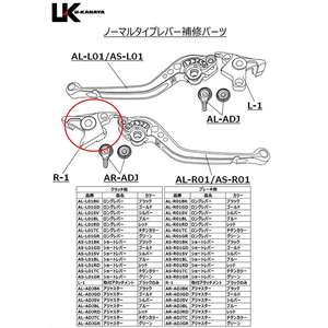 U-KANAYA [Repair Parts] Brake Lever Mounting Attachment