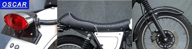 oscar   custom parts & accessories for kawasaki w650 - webike japan