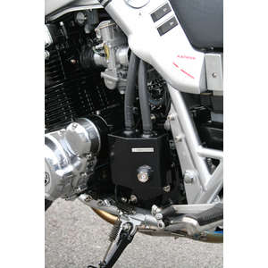 OHNO-SPEED Aluminum Oil Catch Tank with Sprocket Cover Black