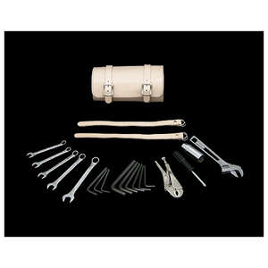 Neofactory Leather Tool Roll & Tool Set Unbleached Colour for 13/16 inches ・21mm Plug