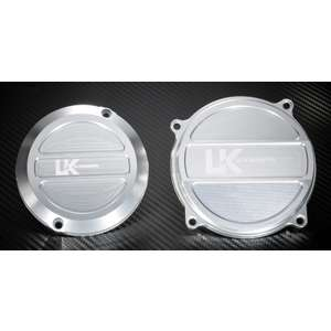 U-KANAYA Aluminum Cut-out Crankcase Cover, Pair(for Left and Right)