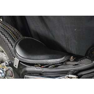 Parts Shop K&W Dedicated Solo Seat Kit Spring Type (Real Leather Saddle Seat with Braided Race)