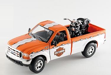 【YAZAWA】MAISTO Harley-Davidson Ford F-350+(Knuckle Head) 迷你模型車 - 「Webike-摩托百貨」
